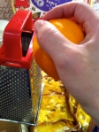 Grate the zest of 1 large orange over your pudding