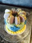 Mini macaron birthday cake.