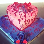 """Bloody valentine"" cake"