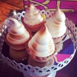 Lemon and passion fruit meringue tarts