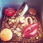 Chocolate junkyard cake for a birthday girl.