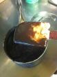 stir until a thick custard is formed.