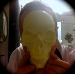 Chocolate-skull-face (..or, stop mucking about chef !)