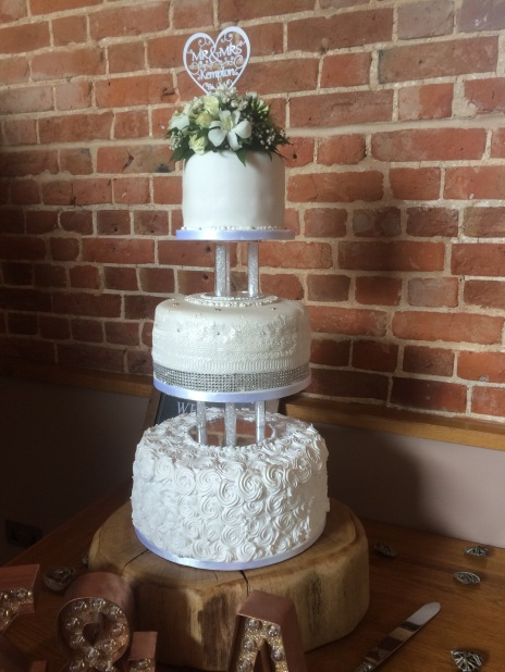 My Brother and sister in laws wedding cake this summer